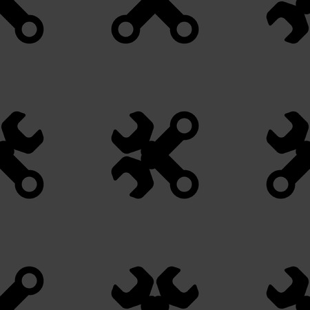 computer repair concept: Wrench. tool to work web icon flat design. Seamless pattern.  Illustration
