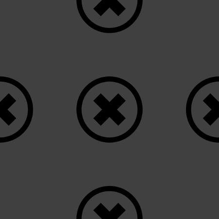 disagree: cancel  web icon. flat design. Seamless pattern.