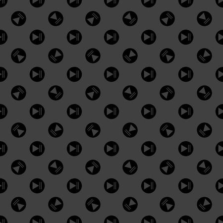 Play button web icon flat design. photo