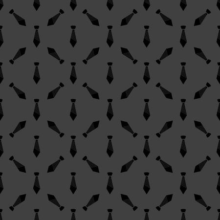 dresscode: Hipster tie web icon flat design. Seamless gray pattern.