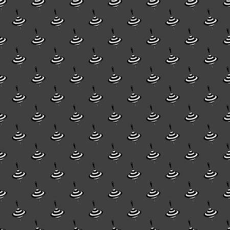 whirligig: whirligig web icon flat design. Seamless gray pattern.