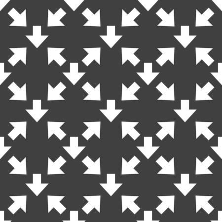 down Arrow web icon flat design. Seamless gray pattern. photo