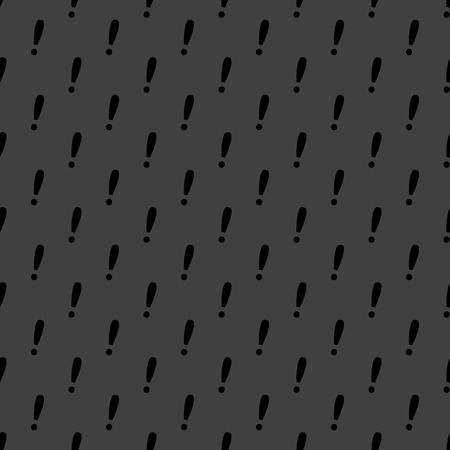 The exclamation point web icon flat design. Seamless gray pattern. photo