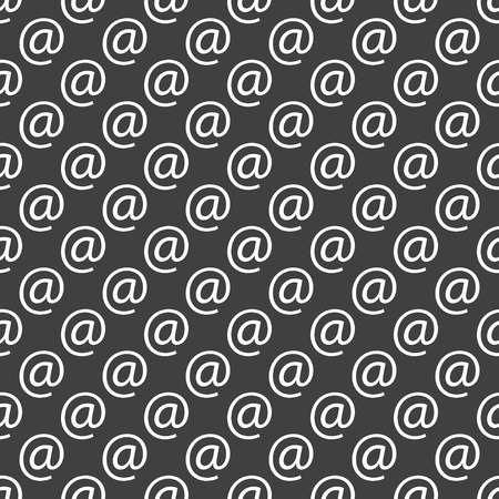 commercial at web icon flat design. Seamless pattern. photo