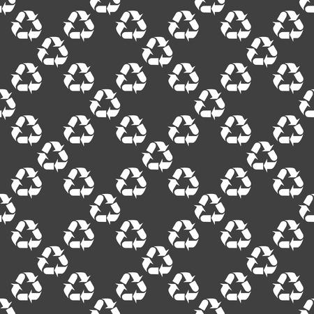 processing web icon flat design. Seamless gray pattern. photo