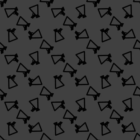 mouthpiece: Mouthpiece. web icon. flat design. Seamless pattern. Stock Photo