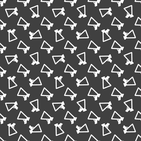 mouthpiece: Mouthpiece web icon flat design. Seamless pattern.