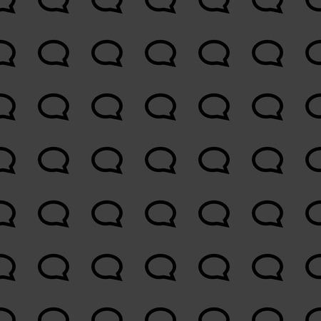 cloud thoughts web icon flat design. Seamless pattern. photo