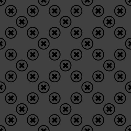 cancel  web icon flat design. Seamless pattern. photo