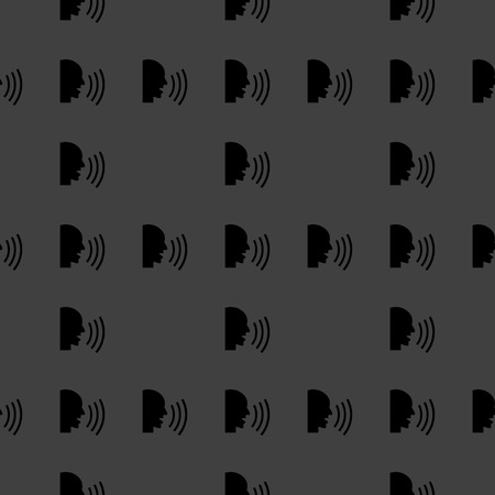 aloud: talking web icon flat design. Seamless pattern. Stock Photo