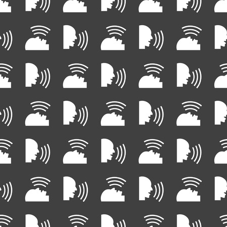 aloud: talking web icon flat design.