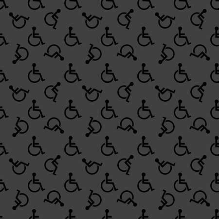 disabled web icon flat design.  photo