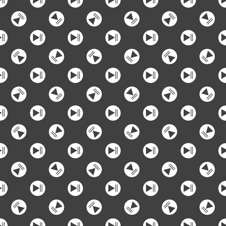 Play button web icon. flat design. Seamless pattern.Vector EPS10 photo
