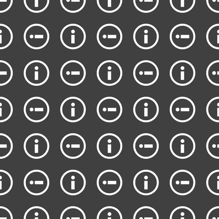 info web icon. flat design. Seamless pattern. photo