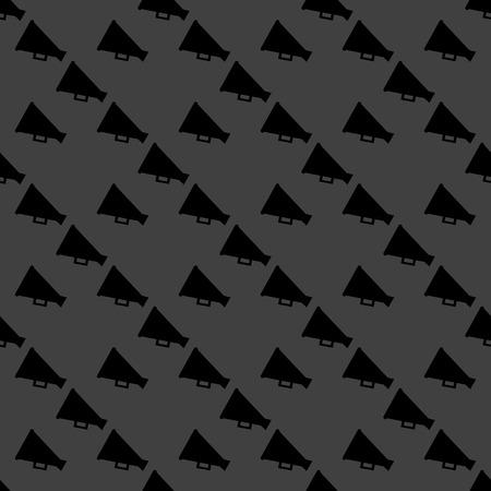 loudhailer: Meg�fono, icono web meg�fono. dise�o plano. Seamless patr�n gris. Vector EPS10