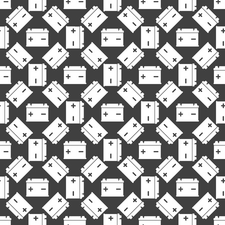 Car battery web icon. flat design. Seamless gray pattern. Vector EPS10 photo