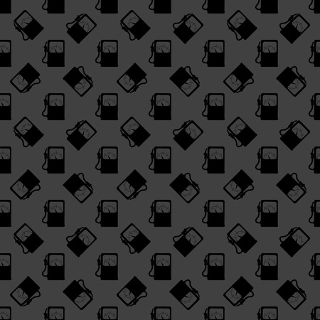 Gas, fuel station web icon. flat design. Seamless gray pattern. Vector EPS10 photo