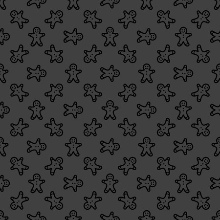 Gingerbread web icon. flat design. Seamless gray pattern. Vector EPS10 photo