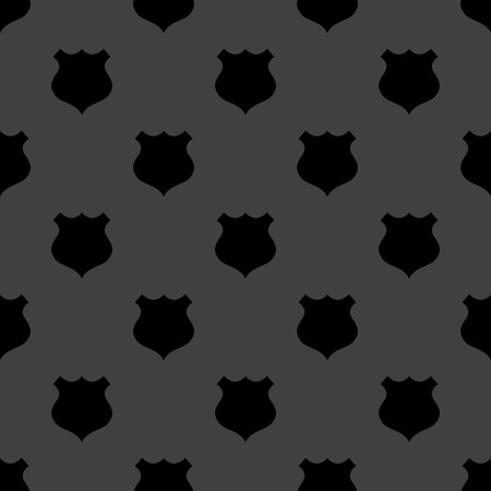 shield web icon. flat design. Seamless gray pattern. Vector EPS10 photo