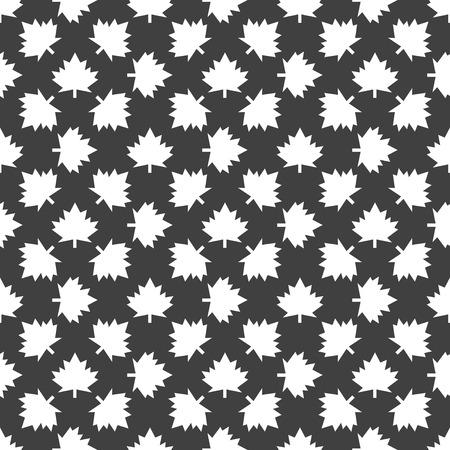 maple Leaf wb icon. flat design. Seamless gray pattern. Vector EPS10 photo
