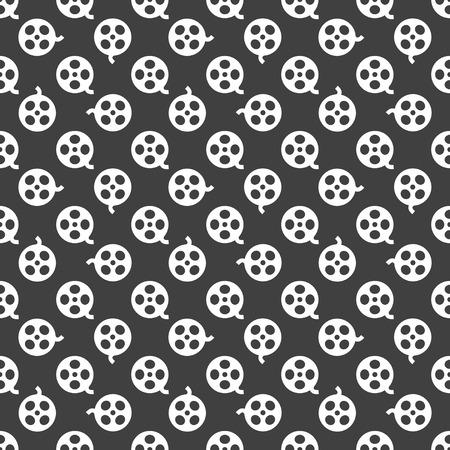 Film web icon. flat design. Seamless pattern. Vector EPS10 photo