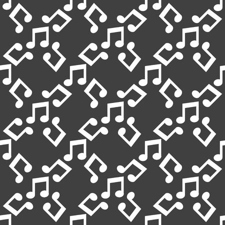 Music note web icon. flat design. Seamless pattern. Vector EPS10 photo