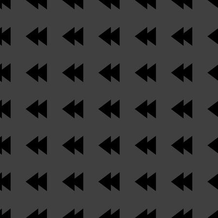 multimedia control web icon. flat design. Seamless pattern. Vector EPS10