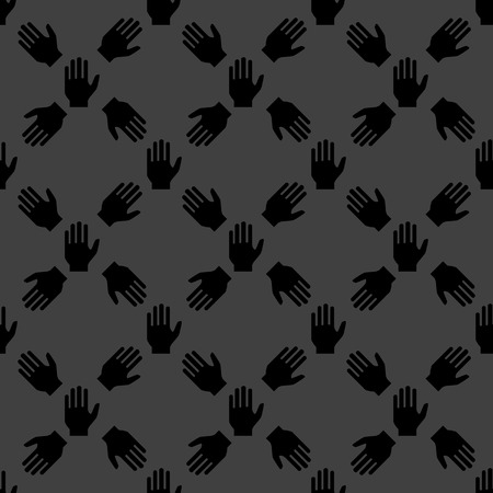 hand web icon. flat design. Seamless pattern. Vector EPS10 photo