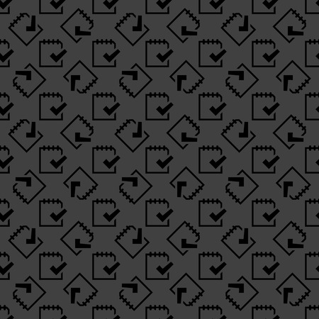 folio: Notepad paper Documents web icon. flat design. Seamless pattern. Vector EPS10