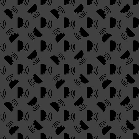 loudy: talking web icon. flat design. Seamless pattern. Vector EPS10