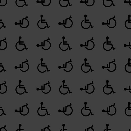 disabled web icon. flat design. Seamless pattern. Vector EPS10 photo