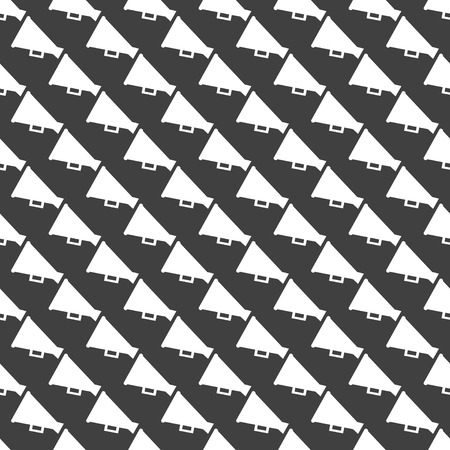 loudhailer: Meg�fono, icono de la web meg�fono. dise�o plano. Modelo gris sin costuras.