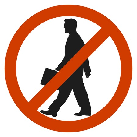 unauthorized: entrance and access is denied to men. sign symbol Illustration
