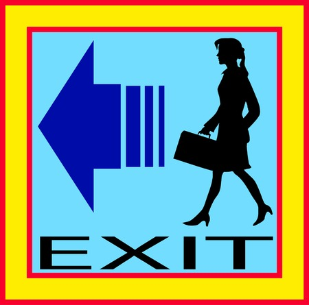 emergency exit icon: Exit emergency sign door with human figure, label, icon.