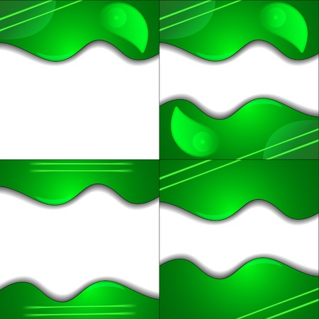 Set Green cloth texture background with place for your text photo