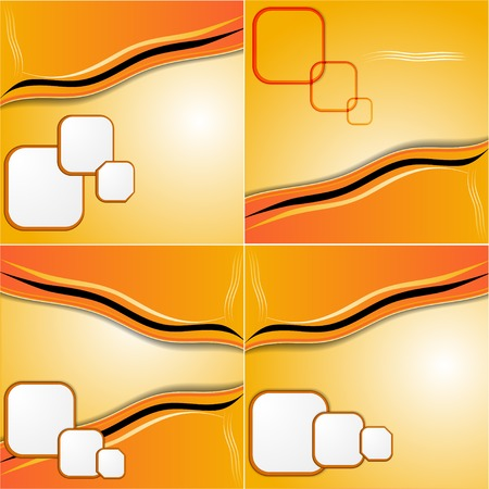set of elegant abstract orange background for you design photo