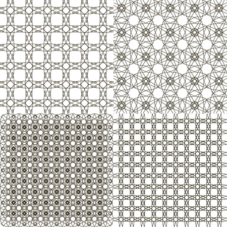 Set abstract vintage geometric wallpaper pattern background with place for your text Stock Photo