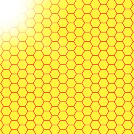 sunshine: Abstract honeycomb background web design.  blurry light effects. .  Stock Photo