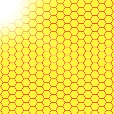 effets lumiere: R�sum� web design en nid d'abeille de fond. effets de lumi�re floues. .
