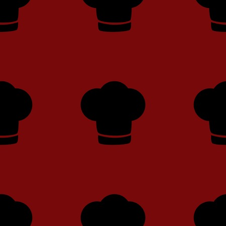fine cuisine: Chef cap web icon. flat design. Seamless gray pattern.