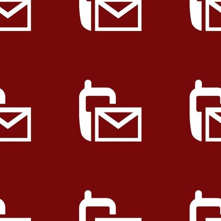 Sms web icon.  flat design. Seamless pattern.