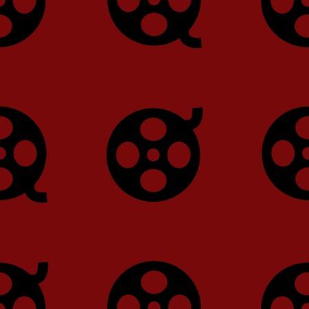 Film web icon. flat design. Seamless pattern. photo