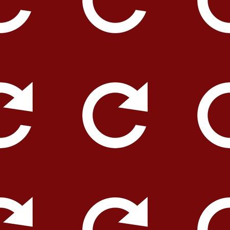 arrow Update web icon. flat design. Seamless pattern. photo