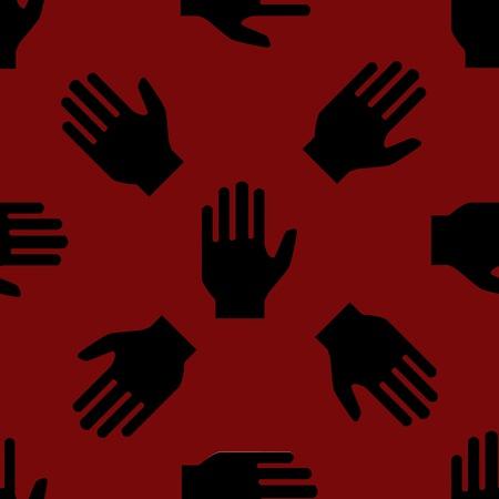 hand web icon. flat design. Seamless pattern. photo