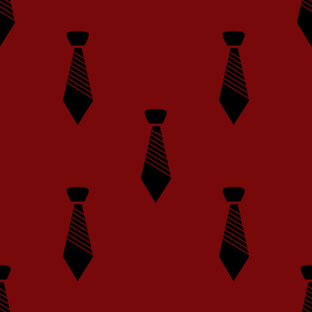 dresscode: Hipster tie web icon.  flat design. Seamless gray pattern. Stock Photo