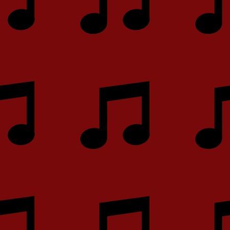 Music note web icon. flat design. Seamless pattern. photo