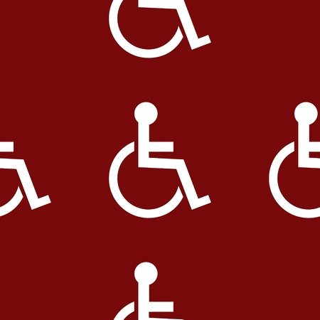disabled web icon. flat design. Seamless pattern. photo