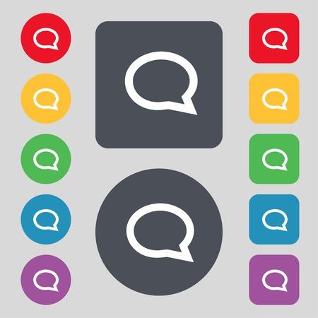 Speech bubble icons.  Vector