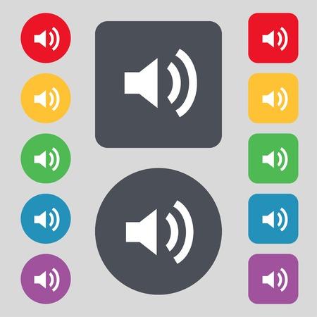 Speaker volume sign icon Vector