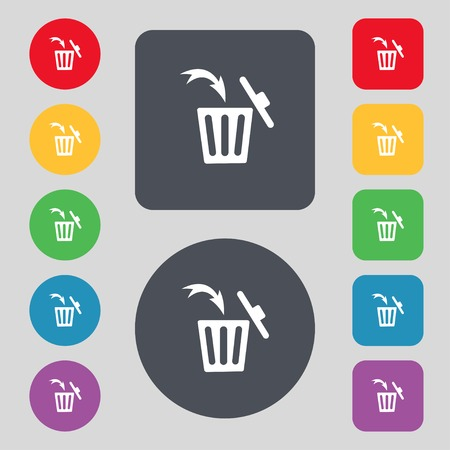 Recycle bin sign icon.  Vector